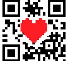 QR Code Heart Love Message  by CroDesign