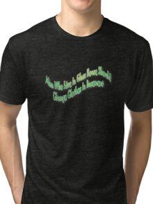Man in glasshouse Tri-blend T-Shirt