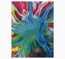 watercolor abstraction painting - blue island Kids Clothes