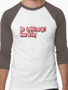 Man: So, what's your sign? Men's Baseball ¾ T-Shirt