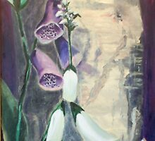 Foxglove by Birch at Yaddo by Phyllis Dixon