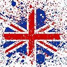 UK Union Jack Splash Colors Flag by CroDesign