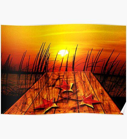 Autumn Sunset Poster