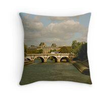 Pont Neuf Throw Pillow