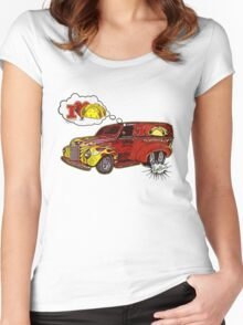 Taco Wagon Dream Tee Shirt from VivaChas! Women's Fitted Scoop T-Shirt
