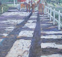 Ponies at the Saratoga Gap by Phyllis Dixon