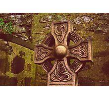 Celtic Cross - Old Calton Cemetary Photographic Print