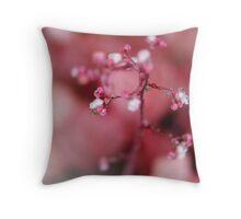 Pink Rain Throw Pillow