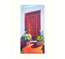 Red Door South Street, Easton Art Print