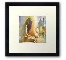 And you are not here with me Framed Print