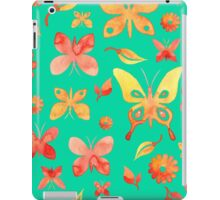 - Watercolor butterfly seamless pattern turquoise - iPad Case/Skin