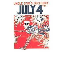 4th of July - Uncle Sam Photographic Print