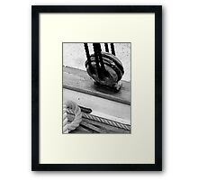 WOODEN DEAD EYE Framed Print