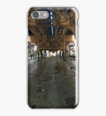 Under the train overpass iPhone Case/Skin