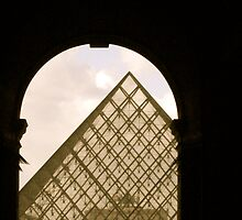 First view of Louvre's Pyramid! by Gursimran Sibia