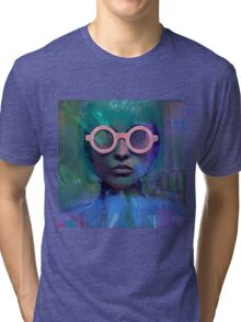 Pink Glasses girl Tri-blend T-Shirt