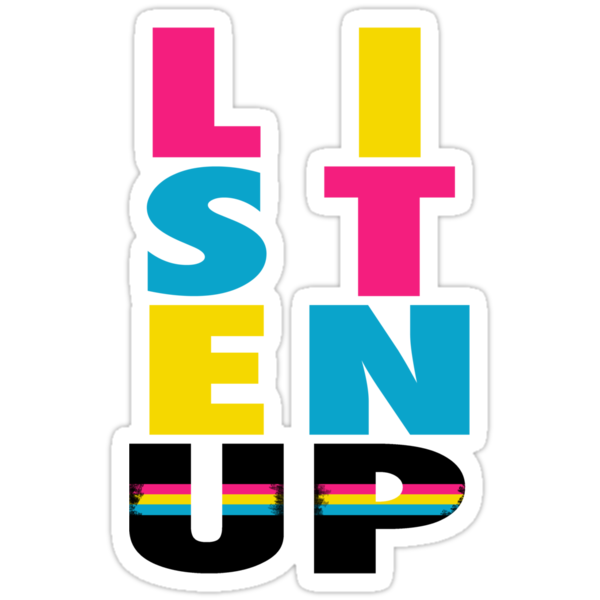Listen Up CMYK by nicwise