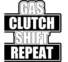 Gas clutch shift repeat Photographic Print