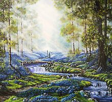 """""""Bluebell Heaven"""" - Oil painting by Avril Brand"""