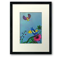Gumballs Garden Framed Print