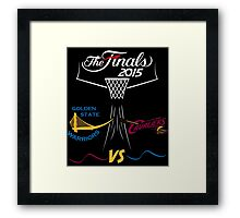 NBA finals 2015 color Framed Print
