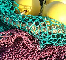 Bright Fish Net Colors by Myrthe Noordegraaf