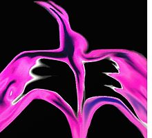 Abstract phoenix and the Angel by franceslewis