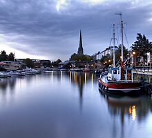 St Mary Redcliffe and Docks by Alan Watt