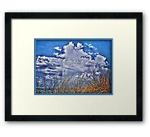 Florida Clouds HDR Framed Print