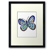 Colorful Tribal Butterfly painting by Artist Christie Marie Elder Framed Print