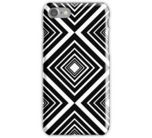 Retro Diamond Pattern Black and White iPhone Case/Skin