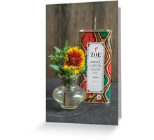 Zoë's Olive Oil!  Greeting Card