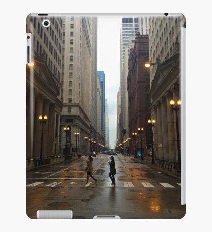 Walking in Chicago Rain iPad Case/Skin