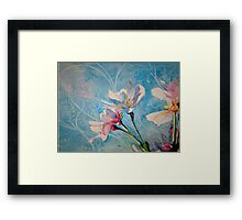 """""""Spring Air"""" Cherry Blossom Watercolor Painting by Christie Marie Elder Framed Print"""