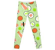 Sushi Pattern Green Leggings