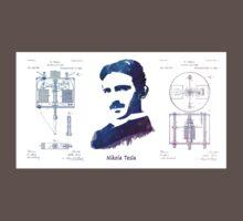 Nikola Tesla Patent Art Electric Arc Lamp One Piece - Short Sleeve