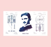 Nikola Tesla Patent Art Electric Arc Lamp One Piece - Short Sleeve