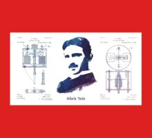 Nikola Tesla Patent Art Electric Arc Lamp Baby Tee