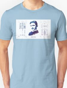 Nikola Tesla Patent Art Electric Arc Lamp Unisex T-Shirt