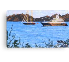 St. Martin viewed from Anguilla Canvas Print