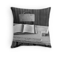 I once dreamt a pen wrote illuminated ink like neon. Throw Pillow