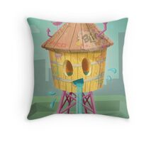 Happy Brooklyn Water Tower Throw Pillow