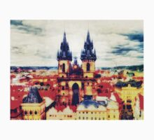 Prague Church Of Our Lady Before Tyn watercolor Kids Tee