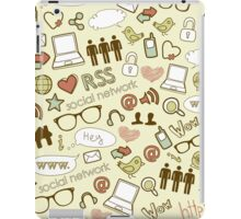 Social Media Icons iPad Case/Skin
