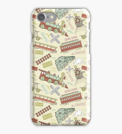 Retro Railroad Trains iPhone Case/Skin