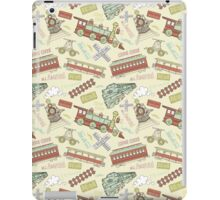 Retro Railroad Trains iPad Case/Skin