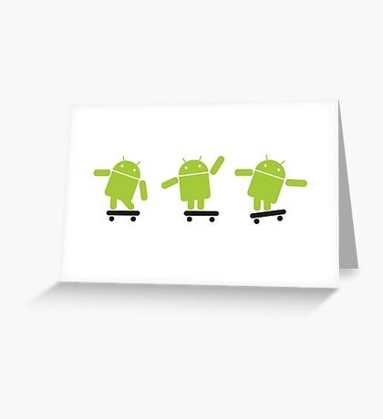 ANDROID EXPLORER Greeting Card