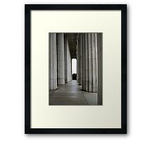 The Columns of the Lincoln Memorial Framed Print