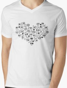 Heart of Skulls Mens V-Neck T-Shirt