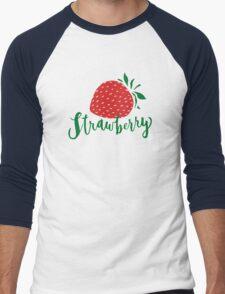 Strawberry Men's Baseball ¾ T-Shirt
